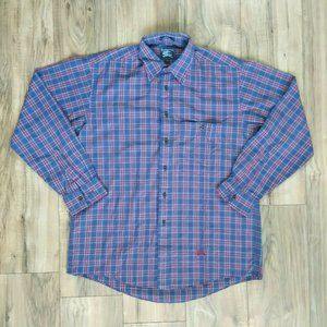 Burberrys Plaid Button Down Shirt Men's Size M